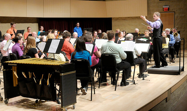 Don Knight | The Herald Bulletin<br /> The Anderson University Concert Band performs a Welsh Folk Suite during their concert at the York Performance Hall on Tuesday. A Chamber Ensemble Concert is scheduled for tonight (Wednesday) at 7:30 p.m.