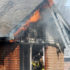 John P. Cleary | The Herald Bulletin<br /> House fire in the 2600 block of Highland Rd. Tuesday morning.