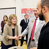 John P. Cleary | The Herald Bulletin<br /> State Superintendent of Public Instruction Glenda Ritz visited Valley Grove Elementary School Wednesday to help celebrate the schools' state Title 1 award.