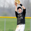 Don Knight | The Herald Bulletin<br /> Lapel's Jaxon Shirley catches a pop fly as the Bulldogs played the Frankton Eagles on Friday.