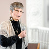 Don Knight | The Herald Bulletin<br /> BJ Mahoney-Hamlin, who is the face of the safe-haven law after being left as an infant in a trash can in Alexandria, speaks at the Newman Events Center about her story.