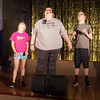 """Katy Stillwell (Linus), Kayla Downey (Lucy) and Tyler McCorkle (Charlie Brown) rehearse """" Little Known Facts"""" from the musical """"You're a Good Man Charlie Brown"""" in preparation for the Alexandria Commons Theatre's """"Let Us Entertain You"""" variety show."""