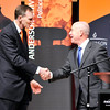 John P. Cleary | The Herald Bulletin<br /> Deputy Secretary of Homeland Security Alejandro Mayorkas visited Anderson University Wednesday at the invitation of AU President John Pistole, left.