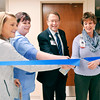 John P. Cleary | The Herald Bulletin<br /> St. Vincent Anderson Regional had a dedication and open house for their new c-section suite. Opening the new suite with a ribbon-cutting  were Dr. Julie Tillman; Lisa Zvyak, RN, manager, Birthing Center; Mike Schroyer, Interim President, St. Vincent Northeast Region; and Barbara Bridges, Surgical Services.