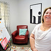 John P. Cleary |  The Herald Bulletin<br /> Denise Valdez, director of Kids Talk, in one of the interview rooms where they talk to children who are suspected of having been abused.