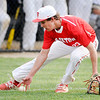 Don Knight | The Herald Bulletin<br /> Frankton's Evan Doan fields a bunt as the Eagles faced the Daleville Broncos on Wednesday.