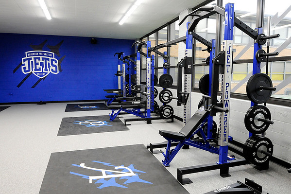 Don Knight | The Herald Bulletin<br /> Idaho-based Lift Life Foundation donated a state-of-the-art weight room to APA.