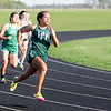Don Knight | The Herald Bulletin<br /> Pendleton Heights Anna Smith runs in the 200 meter dash preliminaries during the Arabians Girls Track Invitational on Tuesday.