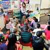 John P. Cleary |  The Herald Bulletin<br /> Students in Karen Griner's first-grade class at Valley Grove Elementary School work on telling time.