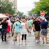 Don Knight | The Herald Bulletin File photo<br /> There was a large crowd despite the rain along Meridian Street for Anderson On Tap at the Dickmann Town Center park on Saturday.