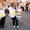 Don Knight | The Herald Bulletin<br /> Students perform a Russian folk dance during Frankton Elementary's World's Fair on Thursday.