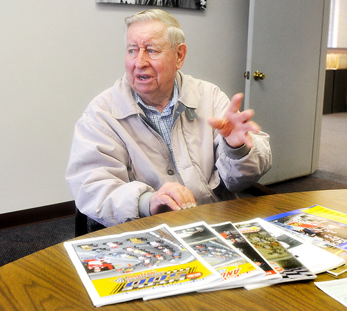 John P. Cleary |  The Herald Bulletin<br /> Don Hartman, 87, has witnessed every Little 500 sprint car race.
