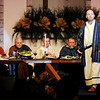 "Don Knight | The Herald Bulletin<br /> Peter, portrayed by Mike Biggs, tells his story during Glad Tidings Assembly of God's annual ""The Living Lord's Supper"" performance on Saturday."