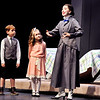 "John P. Cleary |  The Herald Bulletin<br /> Gavin Sumski, a 3rd grader at Maple Ridge Elementary School, and Raegan Brown, a 3rd grader at East Elementary, play the Banks children, Michael and Jane, in the Pendleton Heights High School production of ""Mary Poppins"" along with junior Bailey Miles as Mary Poppins."