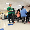 John P. Cleary |  The Herald Bulletin<br /> When Anderson Elementary students came back from spring break they were greeted by a new tile floor in the school cafeteria replacing the old carpeting that had covered the area.