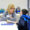 John P. Cleary | The Herald Bulletin  <br /> Val Petry heads up A Heart For Kids, an after-school  program at Whetstone Church to provide help with homework and extra tutoring for students of nearby Erskine Elemenatary School.