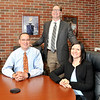 John P. Cleary | The Herald Bulletin<br /> Anderson University's three new vice presidents: Ryon Kaopuiki, vice president for enrollment and marketing; Jim Ragsdale, vice president for finance; and Jen Hunt, vice president for advancement.