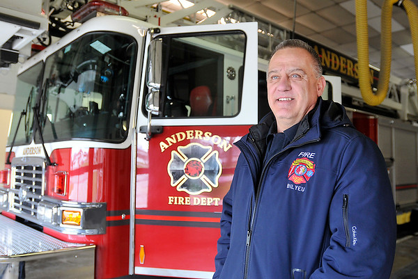 John P. Cleary | The Herald Bulletin<br /> Anderson firefighter Jerry Bilyeu for Hometown Heroes series.