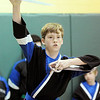 Don Knight | The Herald Bulletin<br /> Sam Bowers, a student at Freedom Martial Arts & Fitness, uses butterfly swords  as he competes in weapons kata during a tournament at Edgewood Elementary on Saturday.