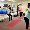 John P. Cleary | The Herald Bulletin<br /> St. Vincent Anderson fitness class for employees that is part of their WellnessWork program. There are 11 different exercise stations that make up the workout circuit.