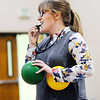 Don Knight | The Herald Bulletin<br /> Katie Torrence referees a game of dodgeball for kids in the More Than Conquerors after school program at Pendleton Intermediary School on Tuesday.