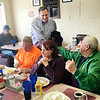 Ken de la Bastide | For The Herald Bulletin<br /> Indiana Senator Joe Donnelly meets with local residents at the Toast Cafe on Friday during a visit to Anderson.