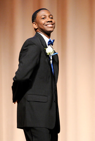 Don Knight   The Herald Bulletin<br /> William O'Neal Jr. is introduced during the Debutante Cotillion/Beautillion Militaire Program at Reardon Auditorium on Saturday.