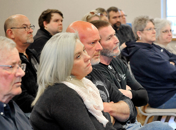 John P. Cleary | The Herald Bulletin<br /> A large number of residents turned out for the Alexandria City Council meeting  Monday to here the storm water presentation by consultant Randy Hamilton.