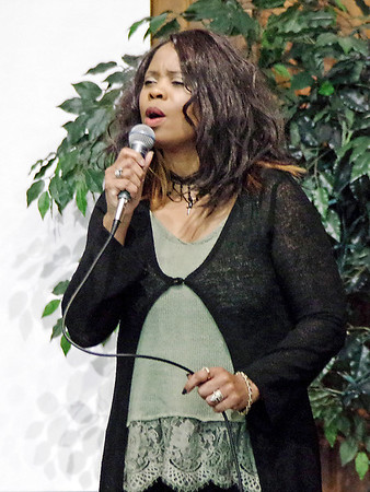 """Mark Maynard   for The Herald Bulletin<br /> Dr. Roberta L. Brooks performs a moving rendition of """"When I Call on Jesus"""" during the Annual Candlelight Vigil for Survivors of Homicide and Impaired Driving Fatalities."""