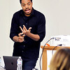 John P. Cleary | The Herald Bulletin  <br /> Will Jones, from SAM (Smart Approaches to Marijuana), gives a training presentation to Intersect, Inc. Friday.