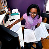 John P. Cleary | The Herald Bulletin<br /> Rhyann Edwards works on her algebra from her bedroom computer as she is a ninth-grade student at Indiana Virtual School.
