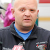 Don Knight | The Herald Bulletin<br /> Pipe Creek Fire Chief Richard Shepherd talks to the media after the procession that returned fallen firefighters  Kyle Hibst and David Wittkamper to Elwood on Tuesday.