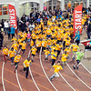 John P. Cleary | The Herald Bulletin   THB file photo<br /> Several hundred kids start the last mile of the St. Vincent-YMCA Kidz Marathon  together at Kardatzke Wellness Center Saturday morning.  The annual event  helps to promote health and fitness in children.