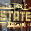 John P. Cleary | The Herald Bulletin  <br /> The new logos on the doors of the State Theatre.
