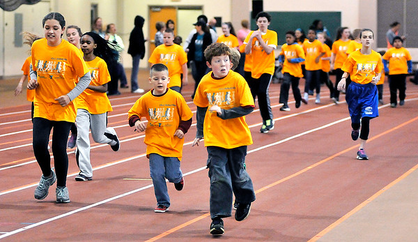 John P. Cleary   The Herald Bulletin    THB file photo<br /> Kids of all ages participated in the St. Vincent-YMCA Kidz Marathon finale held at Kardatzke Wellness Center Saturday morning.  The annual event  helps to promote health and fitness in children.
