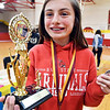 John P. Cleary | The Herald Bulletin <br /> Alexandria Intermediate School sixth-grader Jacklynn Hosier won the annual Multiplication Championship of Alexandria All Stars for the second year on a row.