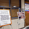 John P. Cleary | The Herald Bulletin  <br /> Signs direct visitors to Community Hospital's temporary location for their gift shop while they remodel and enlarge their main shop.