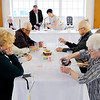 Don Knight | The Herald Bulletin<br /> The elements of communion are served after a meal during the Maundy Thursday service at Park Place Church of God.