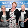 Mark Maynard | For The Herald Bulletin<br /> Liberty Christian Junior/Senior High School's Mary Lee Douramacos (left) and MaryBeth Brockley of Elwood Elementary School (right), are the recipients of the Anderson Noon Exchange Club's 2019 Max Beigh Enriching Education Awards, presented by club President Shannon Terrell.