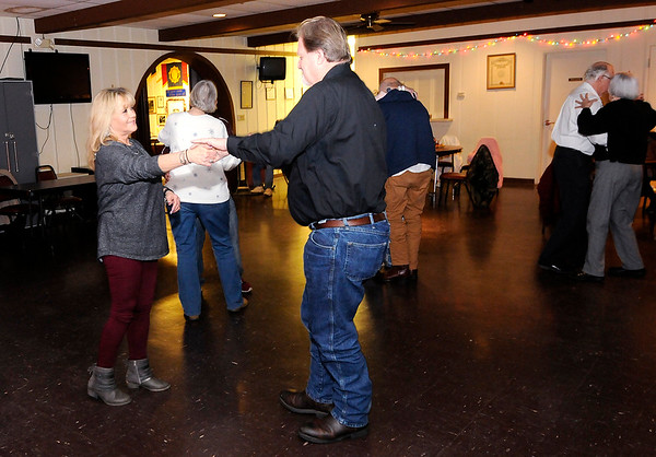 Don Knight   The Herald Bulletin<br /> Tammy and Bob Reed dance at American Legion Post 127 on Saturday. The Legion is hosting Senior Dances on Saturdays from 6 to 9 p.m.
