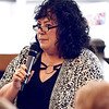 John P. Cleary | The Herald Bulletin <br /> Madison County Chamber hosts the first 2019 State of the County luncheon. Deborah Dunham, Chesterfield Clerk-Treasurer, addresses the luncheon.
