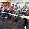 John P. Cleary | The Herald Bulletin<br /> Pendleton Heights Middle School 7th graders work on their lesson in Erin Atkinsons' language arts class recently.
