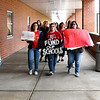 John P. Cleary | The Herald Bulletin <br /> Teachers at Erskine Elementary School walked in together Thursday morning in solidarity of issues brought before the General Assembly. Similar walk-ins took place at each of the Anderson Community Schools.