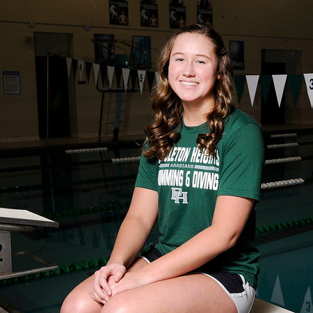 Don Knight   The Herald Bulletin The Herald Bulletin's girls swimmer of the year Pendleton Heights' Karly Riffey.