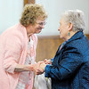 Don Knight | The Herald Bulletin<br /> Janice Gaunt, left, thanks Jacquelyne Gross for washing her feet during Park Place Church of God's Maundy Thursday service.