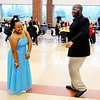Don Knight | The Herald Bulletin<br /> From left, Calista Watson and Samual Hardin dance during Anderson High School's 10th annual special needs prom in the cafeteria on Thursday.