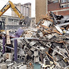 John P. Cleary | The Herald Bulletin <br /> The Boat Club, an Anderson landmark, has started being demolished this week to make room for Tower Apartments parking.