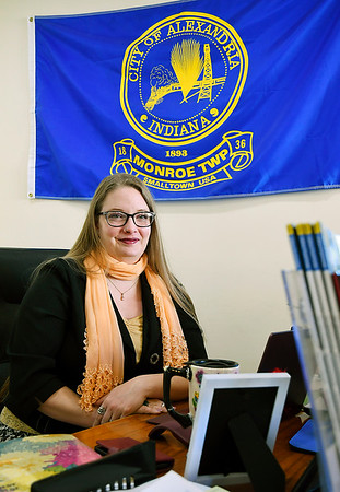 John P. Cleary   The Herald Bulletin  <br /> Ashley Olibas is the new Executive Director of the Alexandria Monroe Chamber of Commerce.