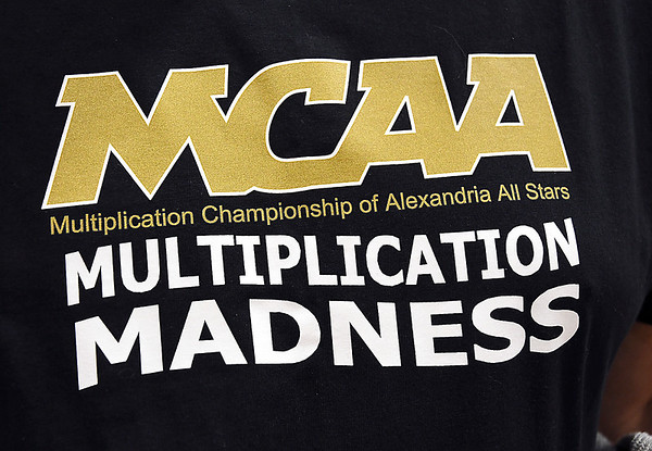 John P. Cleary | The Herald Bulletin <br /> Alexandria Intermediate School's annual multiplication tournament. This is the T-shirt that participants received for competing.
