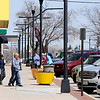 Don Knight | The Herald Bulletin<br /> Restaurant patrons visit the eateries on Meridian Street in Downtown Anderson on Tuesday.